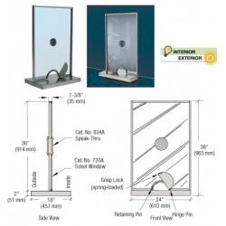 CRL Clear Bottom Wipe with Drip Rail for Cambridge Sliding Shower Door  System - P995WS