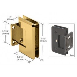 CRL Chrome/Brass Accents Anaheim Wall Mount Full Back Plate Shower Door Hinge