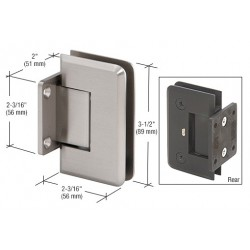 CRL Brite Chrome Biloba 8060 Hydraulic 'All-Glass' Commercial Door Hinge