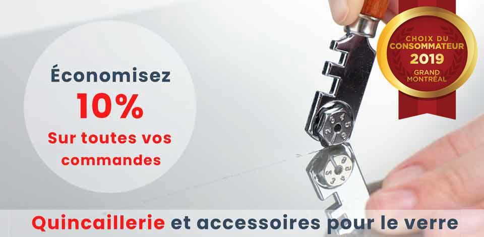 Quincaillerie, matériel, accessoires et pièces pour applications verre, photo, Vitrerie Des Experts Glass Experts